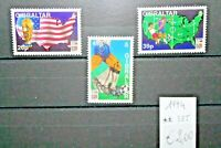 "FRANCOBOLLI GIBILTERRA GIBRALTAR 1994 ""WORLD CUP USA 94"" NUOVI MNH** SET (CAT.5)"