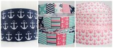GROSGRAIN ANCHOR NAUTICAL RIBBON LOT FOR HAIR BOWS 3 YARDS DIY CRAFTS