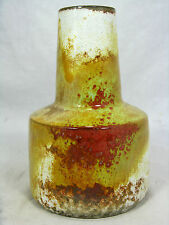 "Unusual shaped 60/70´s  Italian ""Alla Moda"" Fantoni design pottery vase 13,5 cm"