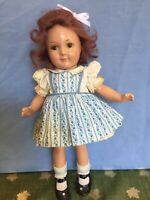 "Rare Vintage 1937 Jane Withers 13"" Composition Doll By Madame Alexander"