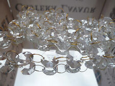100Pcs Chandelier Crystal Drops Brass Chain glass Beads For Wedding Chandelier