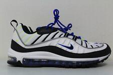 Nike Mens Air Max 98 White Black Racer Blue Volt 640744-103 Size 8.5 8784b8ffd
