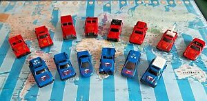 JOB LOT - 14 x UNBRANDED POLICE AND FIRE DEPARTMENT VEHICLES - MADE IN CHINA