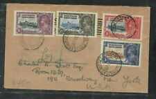 BECHUANALAND COVER (P0506B) 31 DEC, 1935 KGV SILVER JUBILEE SET COVER TO USA