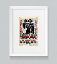 ACDC High Way To Hell Poster 1979 Vintage Dictionary Book Print Wall Art