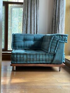 Customized Teak Wood Base for French Modern Sectional Daybed Living Room Sofa