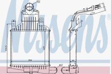 Nissens 96591 Intercooler fit OPEL ASTRA H 1.6-2.0 TURBO 04-