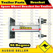 Spare Wheel Bracket Carrier Galvanised 90 Degree for Trailer (Ford Stud Pattern)