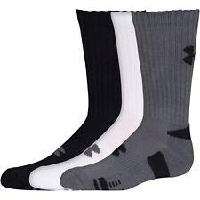 Under Armour 2018 HeatGear Tech Crew Gym Fitness Golf Socks - 3 Pack Black Large