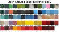 Czech 8/0 Rocaille Glass Seed Beads 6-strand Hank 2