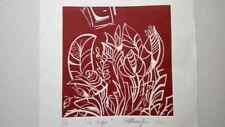 Xilografia di Antonella Maccaferri la siepe 2005 cm 36 x 38  7/10 ottima da coll