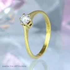 """Ring """"Solitär"""" in 585/- Gelbgold mit 1 Diamant 0,29 ct ct. Wesselton/VSI"""