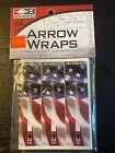 Bohning Arrow Wraps Standard 4 inch Standard- USA Print Flag 12 Pack NEW