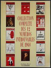 REVUE L'ENRAGE COLLECTION COMPLETE DES 12 N° INTROUVABLES DE 1968 - PAUVERT