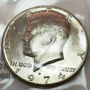 Collectible Uncirculated Error Coin 1974 D Kennedy Double Die Mint Mark MS60