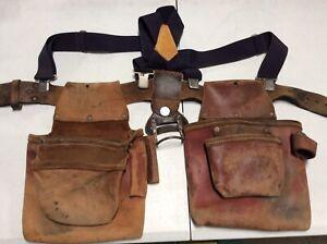 Occidental Leather Construction Tool Belt Pouch Bag OG Solid Vintage Set