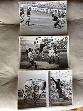 3 FOTO  CALCIO INCONTRI NAPOLI - BARI ANNI 1940 1946 1948 FOTOGRAFI NAPOLI F.E.
