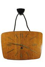 Vintage Russian MAJAK Wooden Wall Clock Key Winding 1970's