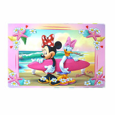 DISNEY set de table enfant MINNIE et DAISY plage surf rose 28 x 43 cm neuf