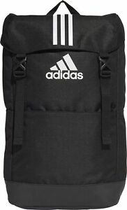 adidas 3 Stripes Backpack Black Large Compartment Zipped Pockets Laptop Sleeve