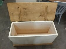 SHABBY PAINTED BLANKET BOX ROUGH SAWN DISTRESSED BESPOKE COLOUR SIZE
