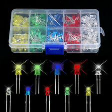 200 Pcs/pack 5mm LED Light White Yellow Red Blue Green Mixed Assortment Diodes