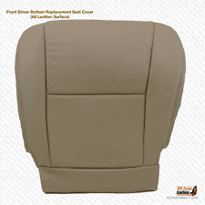 2005 2006 Toyota Tundra Driver Side Bottom Replacement Leather Seat Cover Tan