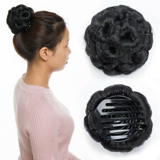 Claw Clip In Hair Bun Wave Curly Hair Piece Chignon Updo Cover Hair Extension us