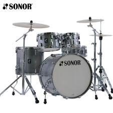 "NEW Sonor AQ2 Series 5 Piece 20"" STUDIO Drum Set Shell Pack Transparent Quartz"