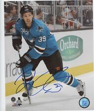 LOGAN COUTURE SAN JOSE SHARKS SIGNED 8x10 PHOTO w/ COA