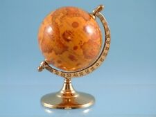 Antique effect stained globe on Pedestal
