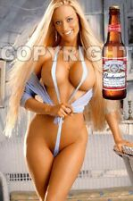 Fridge Magnet Sexy Budweiser Bud Beer blonde playmate bombshell babe bar art