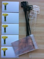 10 Spring Daffodil Remembrance Florist Cards & Cello Envelopes & Card Holders