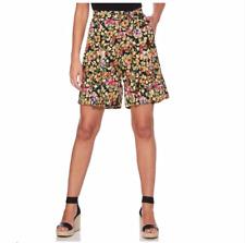 New Womens Rafaella Hibiscus Floral Shorts Medium XL Petite