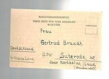 1947 Egypt Camp 1280 censored POW Prisoner of War Postcard Cover to Germany