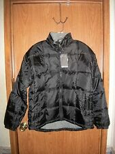 NWT~MEN'S RIVER'S END TRADING COMPANY HOODED PUFFER JACKET~SIZE XL~ BLACK