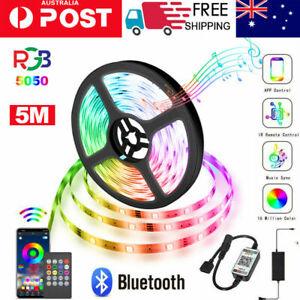 5M RGB 5050 150 LEDS SMD LED Strip Light  Bluetooth Controller Waterproof 12V