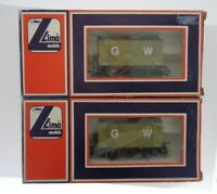 OO gauge Vintage Lima 5605 GW 12 Tons Ventilated Van #597G1 Boxed - set of 2