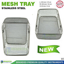 Medical Instrument Holding Stainless Steel Wire Mesh Tray Sterilization Cassette