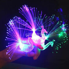 10pcs/Set Peacock Finger Night Lights Color Led Lamp Kids Fiber Light Finger Toy