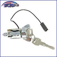 New Ignition Lock Cylinder Chrome Bezel W/ Key For Capri Lynx Bronco II Escort