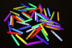 50ct DirectGlow 1.5 inch 9 Color Assorted Mini Glow Sticks