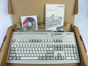 NIB CHERRY POS Mechanical G81 Series NOS Keyboard G81-8016LQNUS Card Reader