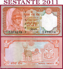 NEPAL -  20 RUPEES  nd  1988 Serial 24 mm long  - Sign 13 -  P 38b -   FDS / UNC