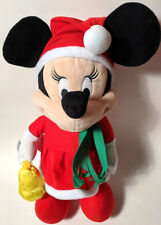 Disney Minnie Mouse Plush Doll Singing Dancing Santa Hat Musical Christmas 13.5""