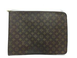 """Auth Louis Vuitton Monogram Porte Documents Briefcase Clutch bag 1E190010n"""""""