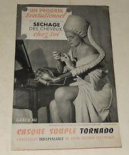 Dépliant publicitaire Le CASQUE TORNADO pour séchage des cheveux - Vintage 60'