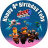 """7.5"""" Lego 2 Edible Personalised Cake Topper"""
