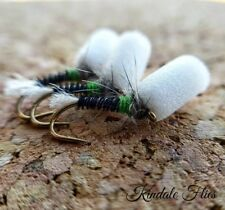 Green Hot Collar Suspender Buzzers Size 14 (Set of 3) Fly Fishing Flies