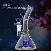 Glass Hookah Bong Water Pipe Smoking Pipe Shisha Tobacco 19cm Funnel Shape Gifts
